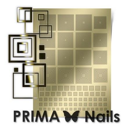 Prima Nails, Металлизированные наклейки GM-03, золотоНаклейки для дизайна<br>Наклейки для необычного дизайнерского маникюра.