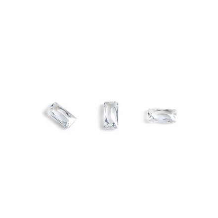 Купить TNL, Кристаллы «Багет» №2, прозрачные, 10 шт., TNL Professional