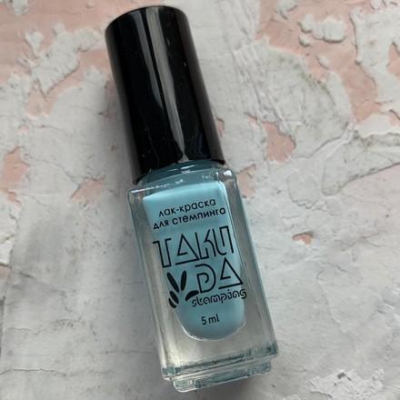 Купить TakiDa, Лак для стемпинга №007, Голубой