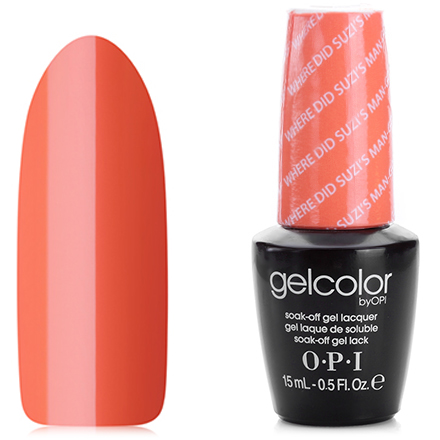 OPI GelColor, Гель-лак Where Did Suzi's Man-go? A66