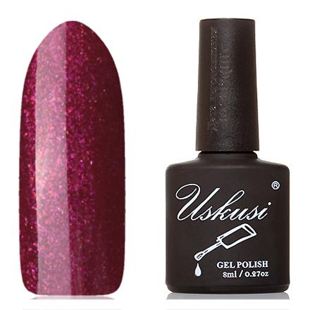Uskusi, Гель-лак №186Uskusi<br>Гель-лак (8 мл) вишневый, с розовыми микроблестками, полупрозрачный.<br><br>Цвет: Розовый<br>Объем мл: 8.00