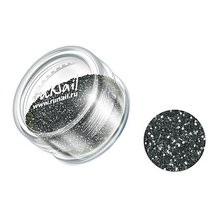 ruNail, дизайн для ногтей: блестки 0647 (темно-серый)
