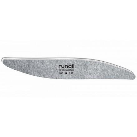 Купить RuNail, Пилка для искусственных ногтей, серая, лепесток, 180/200