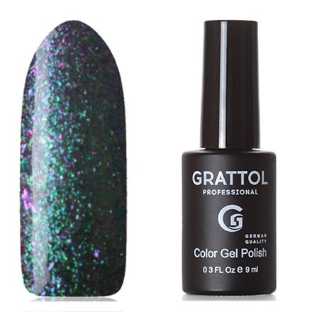 Купить Grattol, Гель-лак Galaxy №001, Emerald, Фиолетовый