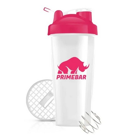 Primebar, Шейкер спортивный, розово-белый