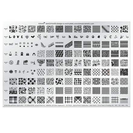 Konad, Пластина для стемпинга Demo Plate IV  konad m19