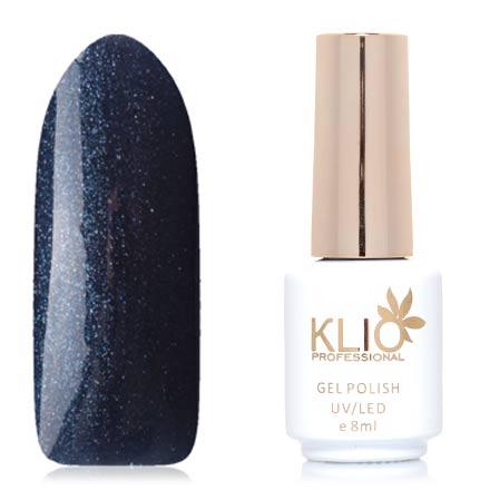 Klio Professional, Гель-лак Total Perfection, №41Klio Professional<br>Гель-лак (8 мл) глубокий серо-синий, с микроблестками, плотный.