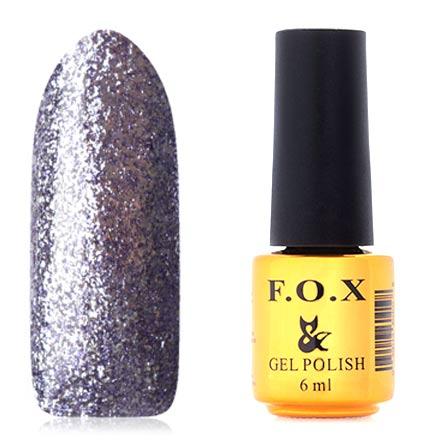F.O.X, Гель-лак Brilliance №016F.O.X<br>Гель-лак (6 мл) насыщенный фиолетовый, с серебряной фольгой, плотный.<br><br>Цвет: Фиолетовый<br>Объем мл: 6.00