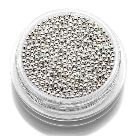 TNL, Бульонки металлические 1, 2 мм (серебро), TNL Professional  - Купить