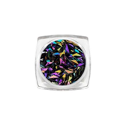 ruNail, 3D-ромбы «Черный опал»