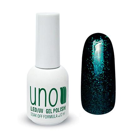 UNO, Гель-лак №164 Изумруд, EmeraldUNO<br>Гель-лак (12 мл) яркого изумрудного цвета с большим количеством микроблесток.