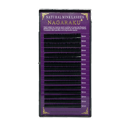 NAGARAKU, Ресницы на ленте Natural Mink, 9/0,07 мм, C-изгибНаращивание ресниц<br>Ресницы для поресничного метода наращивания. В упаковке 16 линий.