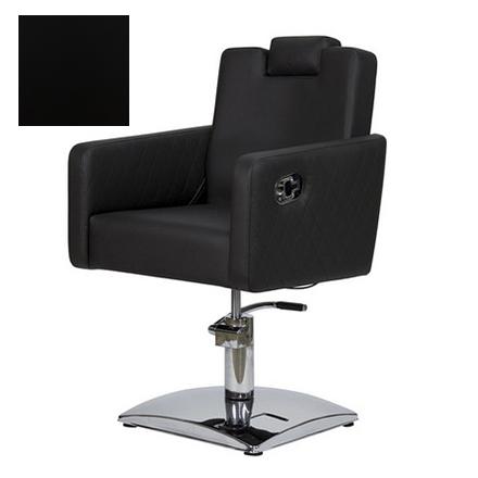 Купить Мэдисон, Кресло парикмахерское «МД-166» гидравлическое, хромированное, черное