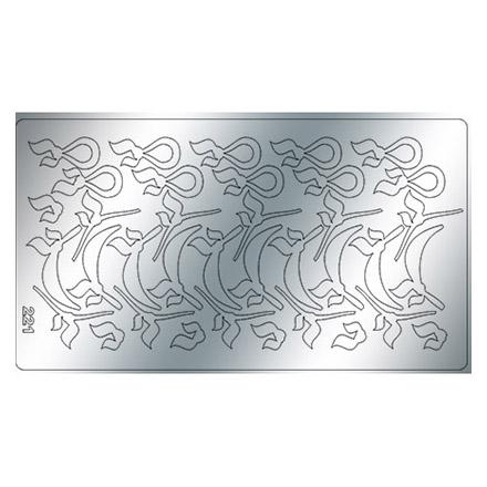 Купить Freedecor, Металлизированные наклейки №221, серебро