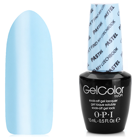 OPI GelColor, Гель-лак Pastel, Can't Find My Czechbook E75 (LED)