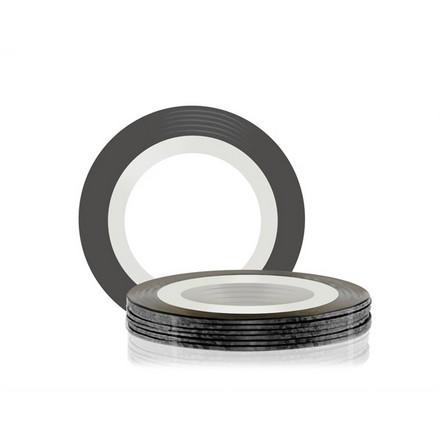 Купить RuNail, Самоклеющаяся лента для дизайна ногтей, черная, 20 м