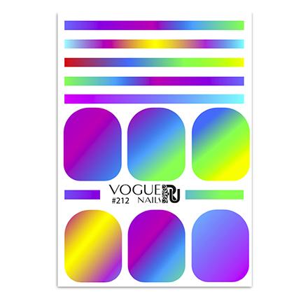 Купить Vogue Nails, Слайдер-дизайн №212
