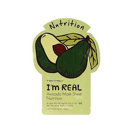 Tony Moly, Тканевая маска для лица I'm Real Avocado Mask Sheet тканевая маска tony moly pureness 100 shea butter mask sheet объем 21 мл