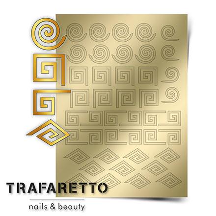 Купить Trafaretto, Металлизированные наклейки GM-01, золото