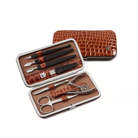 Zinger, Маникюрный набор, MS-FC201-S, коричневый