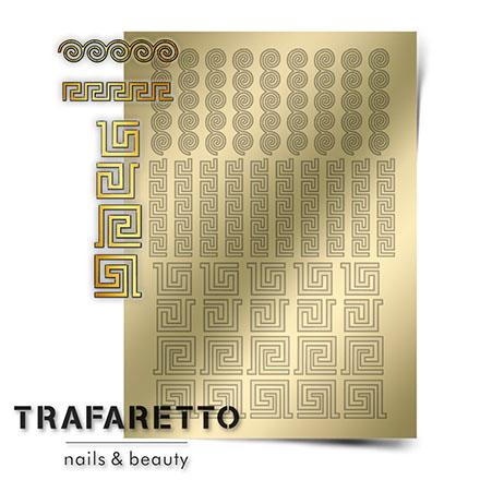 Купить Trafaretto, Металлизированные наклейки OR-03, золото