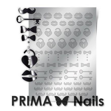 Prima Nails, Металлизированные наклейки FSH-04, серебро
