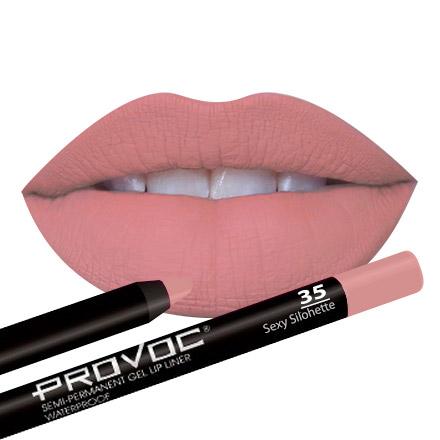 Provoc, Гелевая подводка-карандаш для губ №35, Sexy Silohette, цвет темно-лососевый