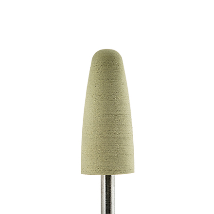 Muhle Manikure, Полировщик силиконовый «Конус» D=8,5 мм, тонкийНасадки<br>Насадка для обработки утолщенных ногтей, полировки пластины.