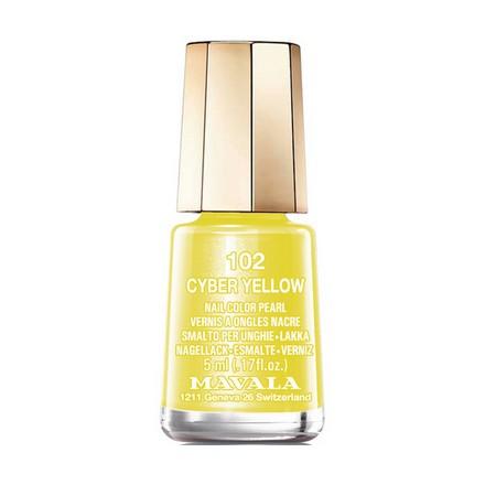 Купить Mavala, Лак для ногтей №102, Cyber Yellow, Зеленый