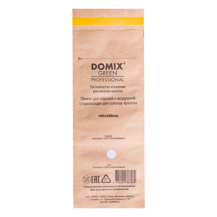 Domix, Крафт-пакеты для стерилизации и хранения инструментов, коричневые, 100х200 ммСтерилизаторы<br>Крафт-пакеты используются для стерилизации инструмента в сухожаровых шкафах, в упаковке 100 шт.