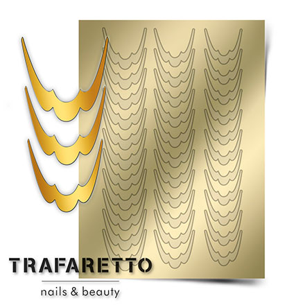 Trafaretto, Металлизированные наклейки CL-09, золото  - Купить