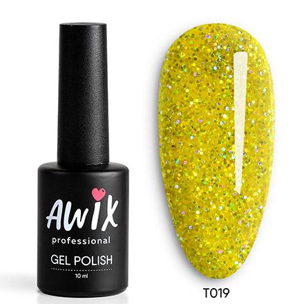 Купить AWIX Professional, Гель-лак Tinsel №019, Золотой
