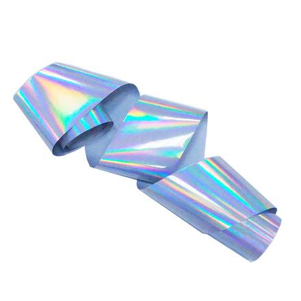 Купить De.Lux, Фольга переводная голографическая, серебряная