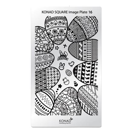 Konad, Пластина для стемпинга Square Image Plate №16 konad m88