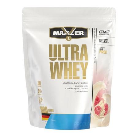 Maxler, Протеин Ultra Whey, белый шоколад с малиной, 900 г