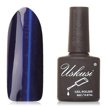 Uskusi, Гель-лак «Кошачий глаз» №6Uskusi<br>Магнитный гель-лак (8 мл) сине-фиолетовый, с ярко-синими микроблестками, плотный.<br><br>Цвет: Фиолетовый<br>Объем мл: 8.00