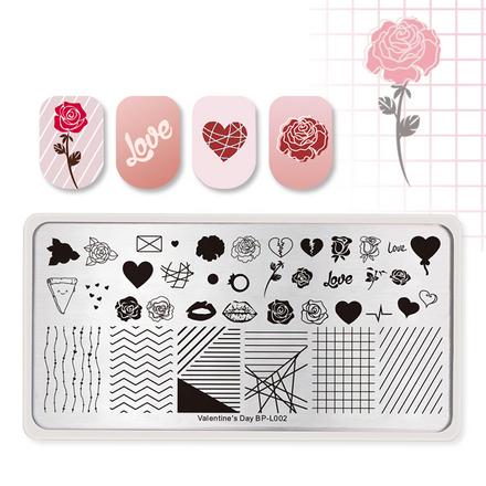 Born Pretty, Пластина для стемпинга Valentine's day №002 фото