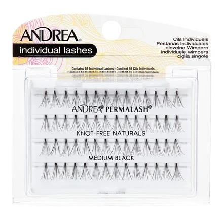 Купить Andrea, Пучки ресниц Perma, безузелковые, средние, черные