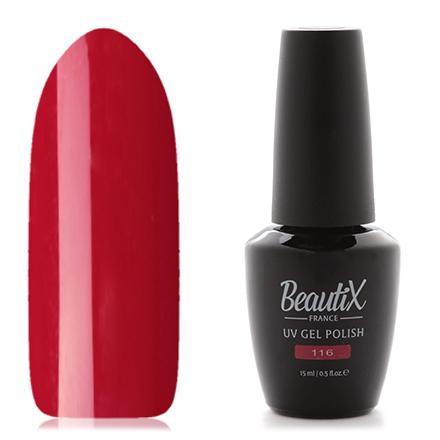 Купить Beautix, Гель-лак №116, 15 мл, Красный