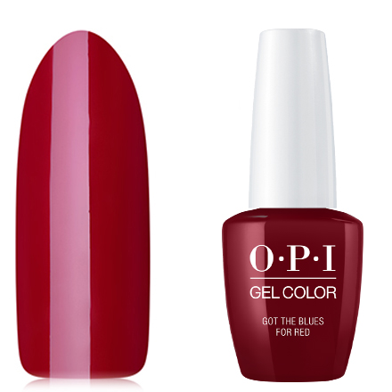 OPI GelColor, Гель-лак Got The Blues For Red W52 opi лак для ногтей race red 15 мл