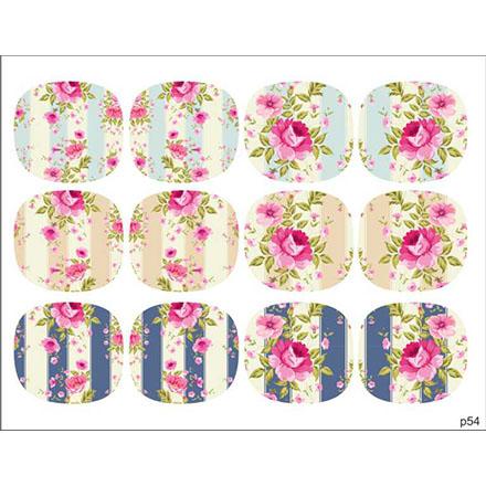 Купить BPW.Style, Слайдер-дизайн «Цветы» №p54, для педикюра