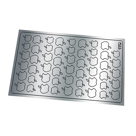 Купить Freedecor, Металлизированные наклейки №179, серебро