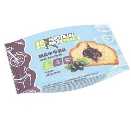 ProteinRex, Протеиновый маффин «Черная смородина», 40 г