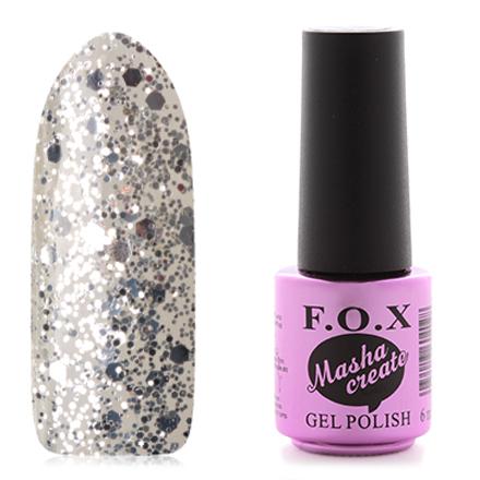 FOX, Гель-лак Masha Create Pigment №116F.O.X<br>Гель-лак (6 мл) на прозрачной подложке, с серебристыми блестками разной величины, прозрачный.<br><br>Цвет: Серебряный<br>Объем мл: 6.00