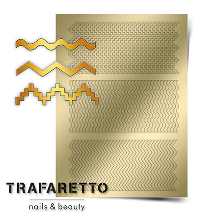Trafaretto, Металлизированные наклейки OR-04, золото фото