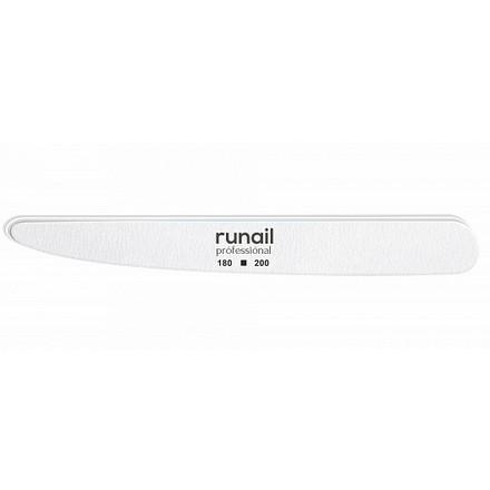 Купить RuNail, Пилка для искусственных ногтей, белая, нож, 180/200