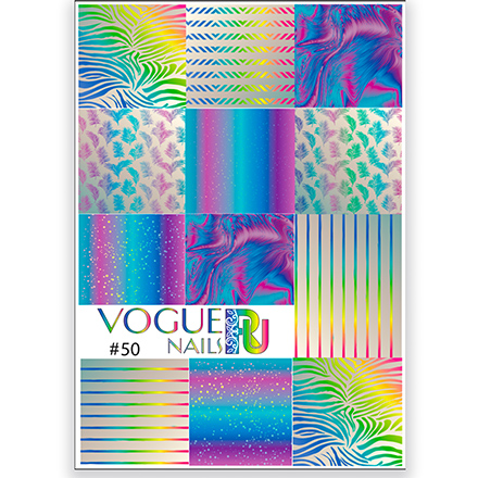 Купить Vogue Nails, Слайдер-дизайн №50