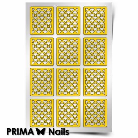 Prima Nails, Трафарет для дизайна ногтей, Русалка (средний)