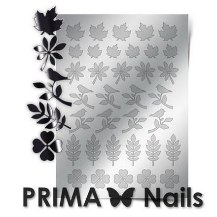 Prima Nails, Металлизированные наклейки FL-05, серебро