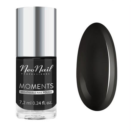 Купить NeoNail, Лак для ногтей Moments №7082-7, Pure Black, NeoNail Professional, Черный